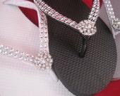 Katrina Bridal Flip Flops - Custom Flip Flops -Dancing Shoe - Bridal Sandals - Wedding Flip Flops Beach Wedding Bridal Shoes