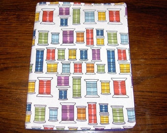 sewing thread spools novelty handmade fabric Bookcover Journal cover book