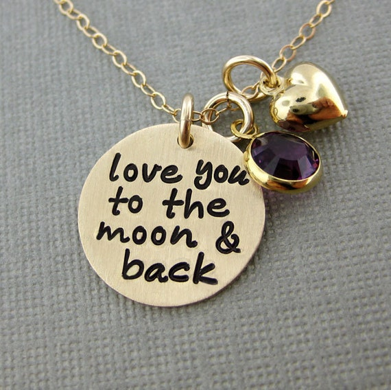 Items Similar To Love You To The Moon And Back Necklace