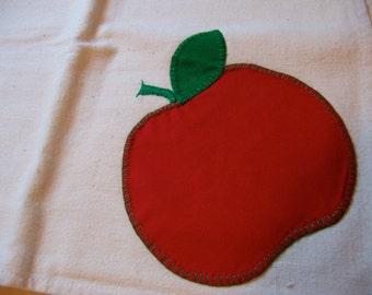 red tomato applique kitchen towel