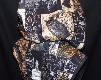 Half Price Sale - NEVERMORE Black Hoodie Bolero Shrug Jacket by LoriAnn Costume Designs - S M L XL 2X