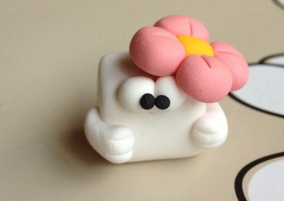 Miss Tofu Polymer Clay Creation  by bdbworld on Etsy  No14
