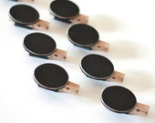 Blank Mini Chalkboard Clip Magnets - Set of 8