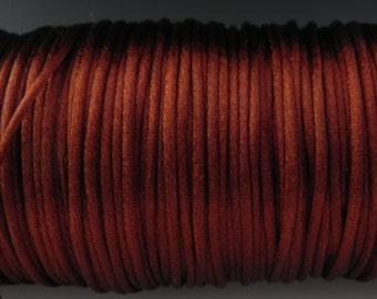 10 yards 2mm Copper Satin Rattail Cord