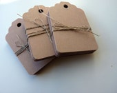 large size linen buff beige brown colour plain card price hang gift tags