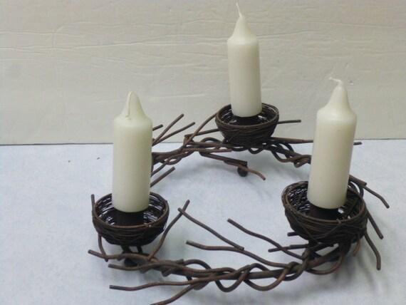 HALF PRICE SALE / vintage rusty candelabra / carriage candle holder / centerpiece / spring home decor