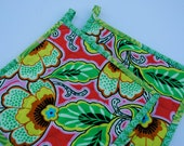 Quilted Pot holders, Contemporary Pot Holders, Amy Butler Pot Holders, Hostess Gift, Shower Gift, Hot Pads