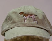 GERMAN SHORTHAIRED POINTER Dog Hat - One Embroidered Men Women Cap - Price Embroidery Apparel - 24 Color Caps Available