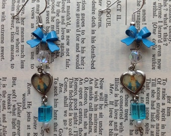 Immaculate Conception Virgin Mary turquoise earrings