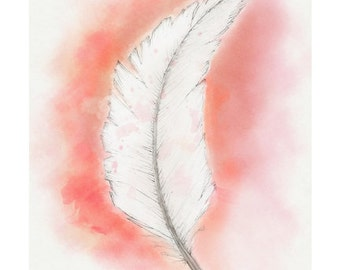 12x16 Feather Print