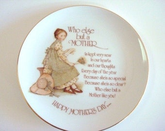 Holly Hobbie Porcelain Mothers Day Plate