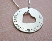 open heart I carry your heart with me necklace