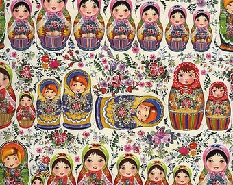 Made In Germany Specialty Paper Russian Dolls Easter Spring