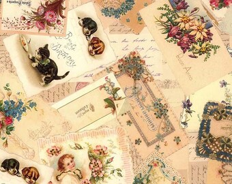 Made In Italy Authentic Florentine Vintage Postcards Traditional Birthday Paper  T521