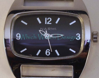 Tiny Squashed.. Extra Small Solid-Bar, Ribbon, Interchangeable Watch Face, Petite