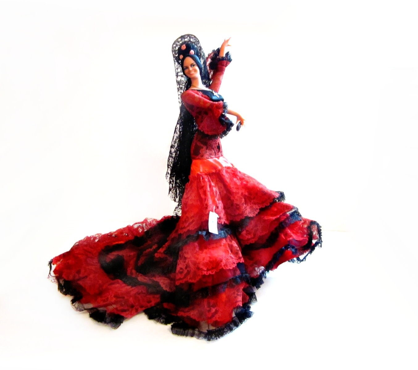 20 Inch Tall Spain Spanish Flamenco Dancer Doll By Marin