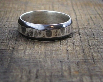 Sterling Ring -  Hammered Texture - MADE TO ORDER