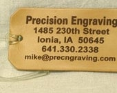 Personalized Luggage Tag,Travel Accessory,Leather Luggage Tag, ddress Tag,Custom Luggage Tag, Set of 1 Large
