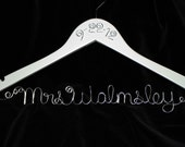 Bride Hanger, Wedding date, Personalized Wedding Hanger, Name Hanger, Wire name, Wedding Gift, Dress hanger