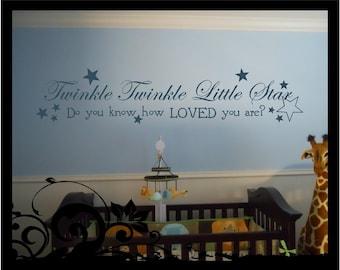 Twinkle Twinkle Little Star - Vinyl Decal