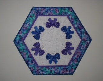 Quilted Table Topper - Butterflies (EDTTO)