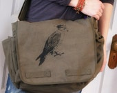 Olive Drab Heavy Duty Messenger with Original Crowned Falcon