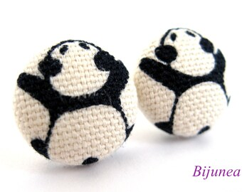 Panda earrings - Panda stud earrings - Panda studs - Animal earrings - Panda post earrings - Panda posts sf981