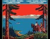 Lake Tahoe Travel Poster Refrigerator Magnet -  FREE US SHIPPING
