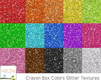 Digital Glitter Textures 8x8in 15 colors