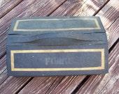 Vintage metal storage box great vintage patina no rust sale Old metal old storage bin container