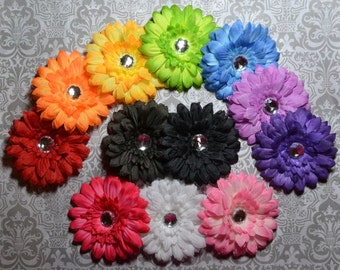 Small 3 inch Gerber Daisy Flower Hair Clip - Pick One Color