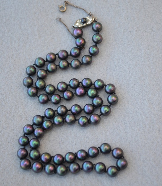 Majorica Pearl Vintage Necklace By Lynnsbeadsnthings On Etsy