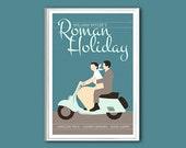 Movie poster Roman Holiday 12x18 inches retro print
