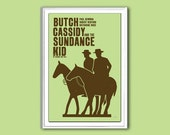 Movie poster Butch Cassidy and the Sundance Kid 12x18 inches retro print