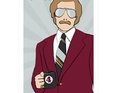 Film poster Anchorman 12x18 inches movie print