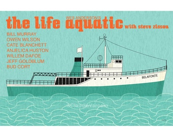 The Life Aquatic with Steve Zissou 18x12 inches movie poster