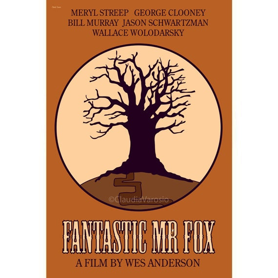 Fantastic Mr Fox 12x18 inches movie poster