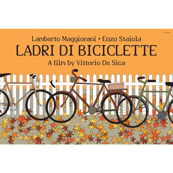 Ladri di biciclette, or Bicycle Thieves, 18x12 inches movie poster