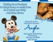 Mickey Mouse Baby Shower Invitations / Baby Mickey Mouse Baby Shower / Mickey Mouse Bring A Book