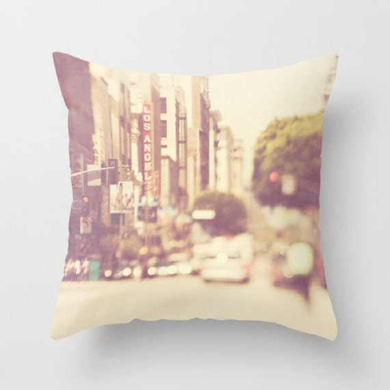 Los angeles throw pillow cover urban home decor loft decor Home decor los angeles