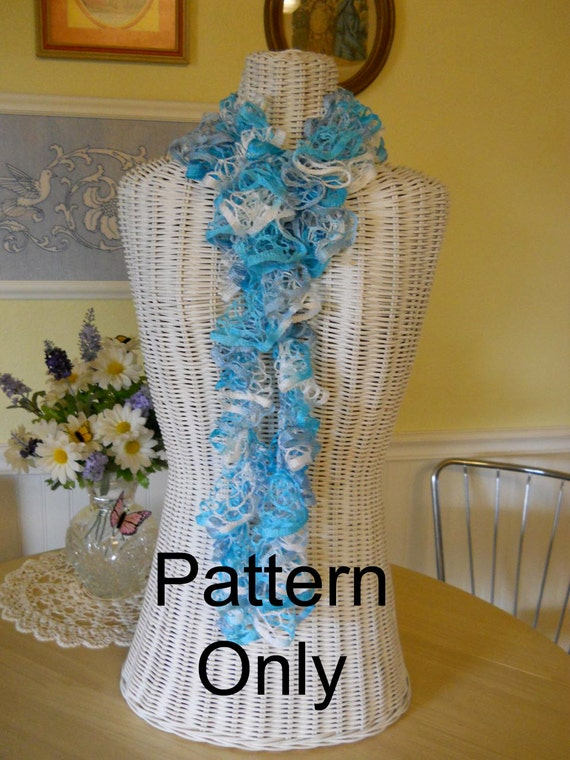Basket Weaving Supplies Phoenix Az : Super simple ruffle scarf crochet pattern from