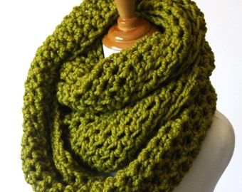 Huge Scarf, Large Scarf,  Oversized Infinity Scarf, Chunky Huge Snood, Oversized Scarf, Lemongrass or Choose Color