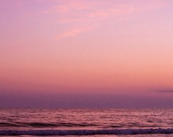 "Oversized Art Print. Large Ocean Photograph. Up to 40x60"" Print. purple pink vertical. Passage No. 1303-9109"