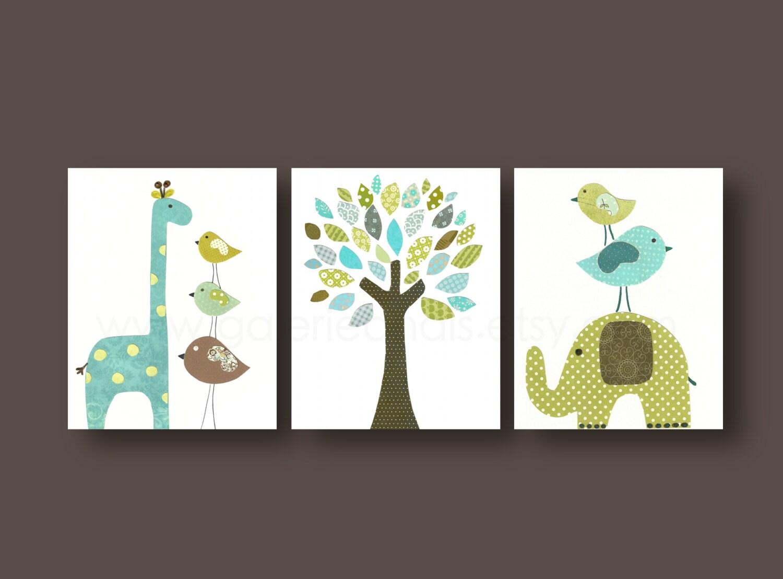 baby boy nursery decor kids wall art elephant nursery art. Black Bedroom Furniture Sets. Home Design Ideas