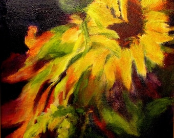 Painting Art Sunflowers Contemporary Modern Design Wall Art Original Art
