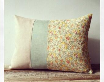 LIMITED EDITION: Pastel Floral Liberty Print Decorative Pillow by JillianReneDecor - Shabby Chic Home Decor | Spring Decor | Nursery