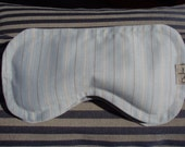 Lavender and Flaxseed  Mens French Cotton Stripe Eye Pillow