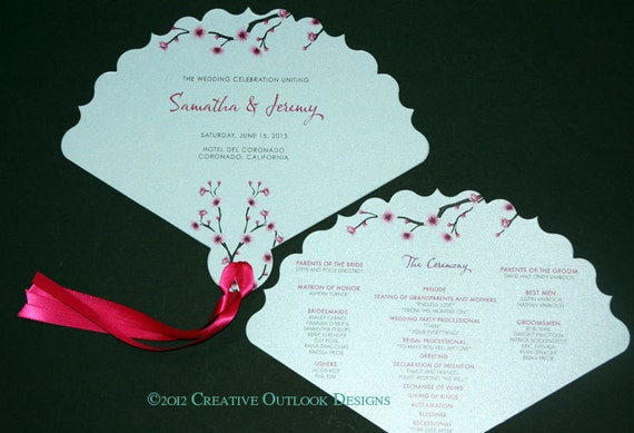Items Similar To Cherry Blossom Flower Theme Wedding