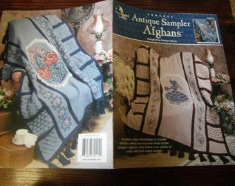 Afghan Crochet Pattern Leaflet Antique Sampler Afghans Annie's Attic 872115 Crochet Pattern Leaflet