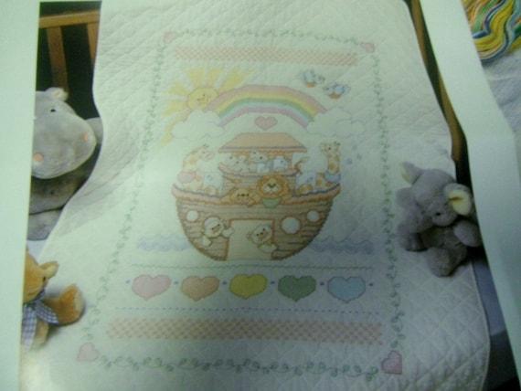 bucilla noak u0026 39 s ark 40525 stamped for cross stitch baby